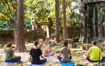One day yoga in the Angkor temples area